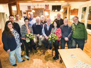 Alter und neuer Vorstand des Schützenvereines Hude im Februar 2020