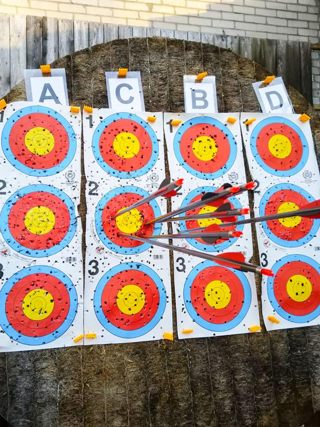 Zielscheibe Bogensport