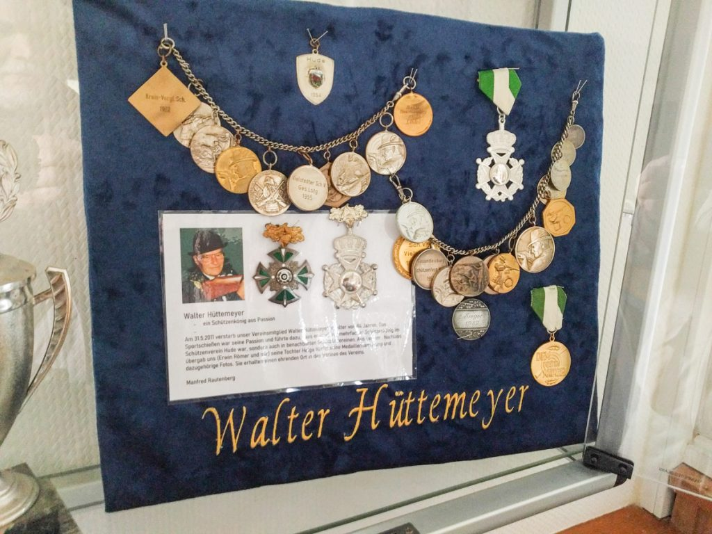 Medaillen Walter Hüttemeyer Schützenverein Hude