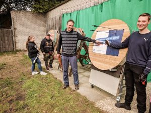 Schützenverein Hude, Dank der Bogensportgruppe an die Volksbank